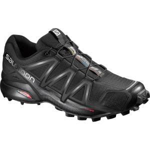 Salomon Men's Speedcross 4 Trail Running Shoes, Black - Size 8.5