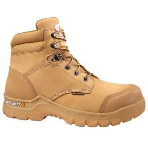 Carhartt Men's 6-Inch Rugged Flex Waterproof Work Boots, Wheat