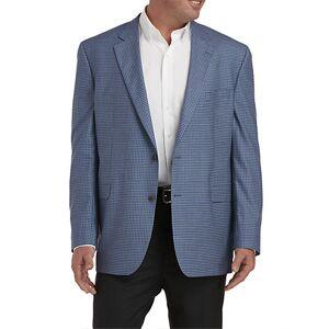 Jack Victor Big & Tall Jack Victor Small Check Sport Coat - Blue