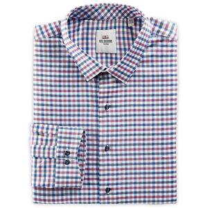 Ben Sherman Big & Tall Ben Sherman Dobby Check Dress Shirt - Pink