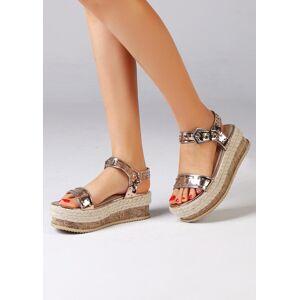 Ankle Strap Buckle Platform Sandals