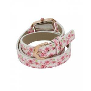 Steve Madden DOUBLE TIME FLORAL WATCH FLORAL