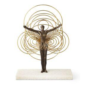 Global Views Bauhaus Wire Woman Sculpture - GOLD