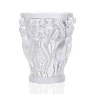Lalique Bacchantes Small Clear Vase - CLEAR