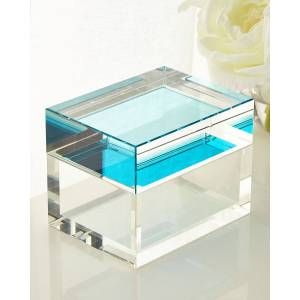 John-Richard Collection Aqua Petite Crystal Box
