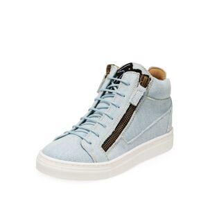 Giuseppe Zanotti Denim Mid-Top Sneakers, Toddler/Kids