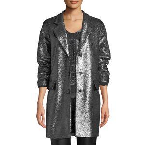 Moschino Metallic Boucle Long Jacket