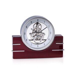 Bey-Berk Rio De Janeiro Mahogany Desk Clock