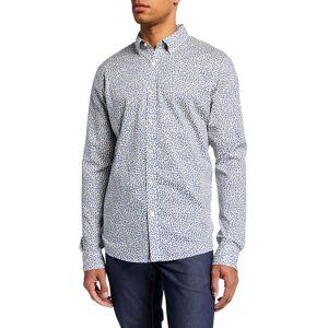 Michael Kors Men's Floral-Print Slim Sport Shirt