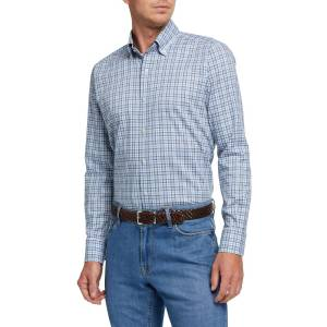 Peter Millar Men's Small-Plaid Sport Shirt