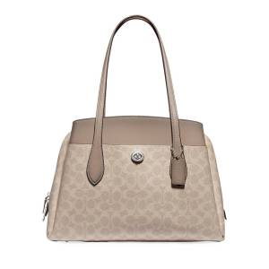 Coach Lora Coated Canvas Signature Carryall Bag  - TAUPE - Gender: female