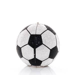 Judith Leiber Couture Sphere Soccer Ball Clutch Bag  - BLACK/SILVER - Gender: female