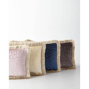 "Roberto Cavalli Monogram Velvet Pillow, 12"" x 20"""