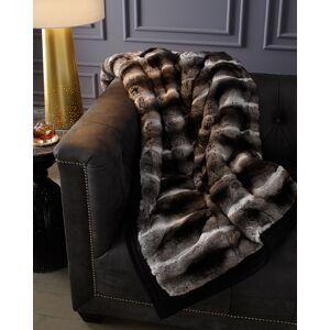 Gorski Chinchilla Fur Throw, Gray