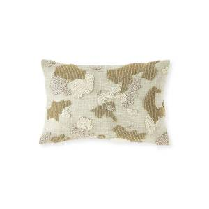 Olivia Quido Bead Embroidered Decorative Pillow