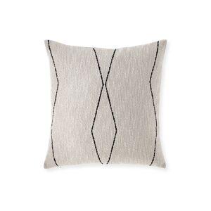 Elaine Smith Oblique Ebony Sunbrella Pillow