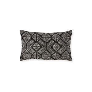 Elaine Smith Bakuba Lumbar Ebony Sunbrella Pillow