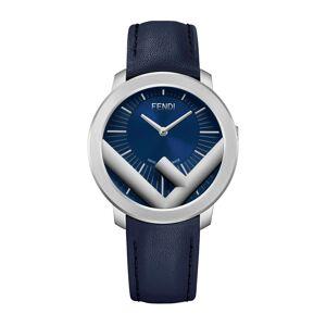 Fendi Men's 41mm Run Away F is Fendi Logo Analog Leather Watch with Blue Strap