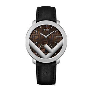 Fendi Men's Run Away FF-Motif Analog Leather Watch