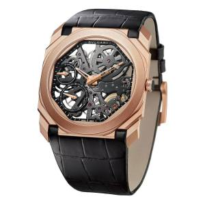 BVLGARI Octo Finissimo Skeleton 18k Rose Gold Watch