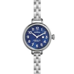 Shinola 34mm Birdy Bracelet Watch, Navy