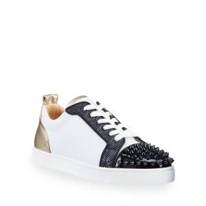 Christian Louboutin Men's Louis Junior Spikes Orlato Metallic Art Deco Sneakers  - MULTI - Gender: male - Size: 47 EU (14D US)
