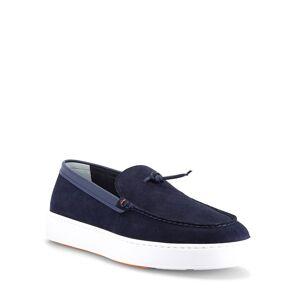 Santoni Men's Bergen Knot Suede Slip-On Sneakers - Size: 7.5D