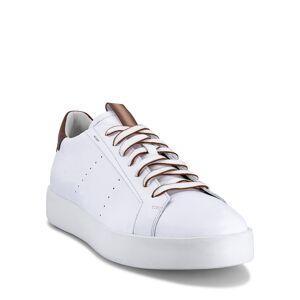 Santoni Men's Part Bicolor Leather Low-Top Sneakers, White - Size: 10.5D