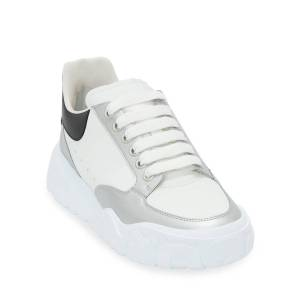 Alexander McQueen Men's Court Metallic Trainer Sneakers - Size: 41 EU (8D US)