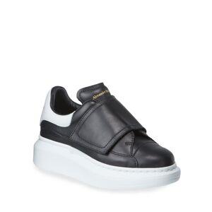 Alexander McQueen Oversized Grip-Strap Leather Sneakers, Toddler/Kids  - BLACK - Gender: male - Size: 30EU (12.5US Kid)