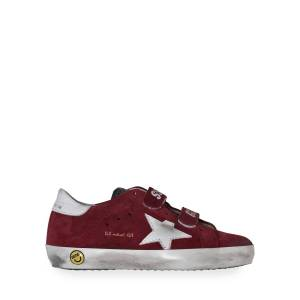 Golden Goose Boy's Old School Suede Sneakers, Toddler/Kids  - MAROON - Gender: male - Size: 31EU (13US Kid)