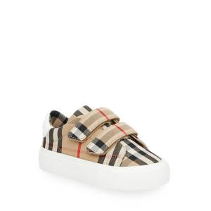 Burberry Markham Check Grip-Strap Sneaker, Baby/Toddler
