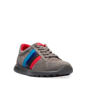 Camper Suede Sneakers w/ Multicolored Leather Sides, Toddler/Kids