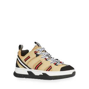 Burberry Icon Stripe Low-Top Chunky Sneakers, Toddler/Kids  - BEIGE - Gender: unisex - Size: 35EU (4US Kid)