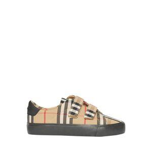 Burberry Markham Check Grip-Strap Sneaker, Toddler/Kids  - BEIGE - Gender: unisex - Size: 31EU (13US Kid)