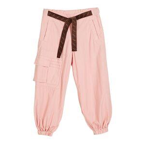 Fendi Girl's Jogger Pants w/ Tie Logo Belt, Size 8-14