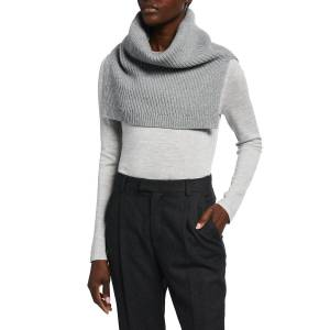 Lafayette 148 New York Diagonal Ribbed Cashmere Snood