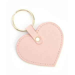ROYCE New York Heart Shaped Key Chain  - LIGHT PINK