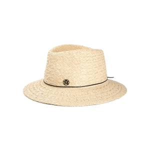 Maison Michel Andre Straw Fedora Hat  - NATURAL - Gender: female - Size: Large