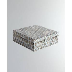 Global Views Large Mother-of-Pearl Box  - Size: unisex