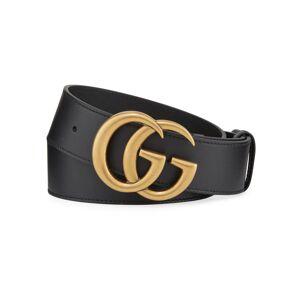 Gucci Men's Running GG Logo Leather Belt