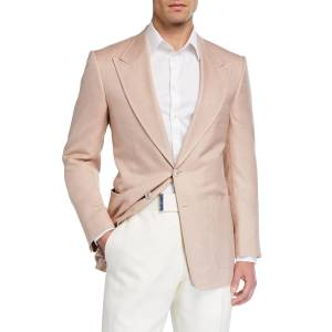 TOM FORD Men's Shelton Silk Canvas Blazer - Size: 50R EU (40R US)