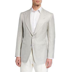 TOM FORD Men's Shelton Silk Canvas Sport Jacket - Size: 54R EU (43R US)