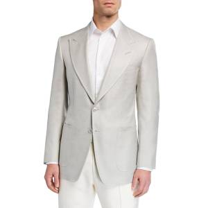 TOM FORD Men's Shelton Silk Canvas Sport Jacket - Size: 50R EU (40R US)