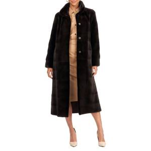 Gorski Reversible Sheared Mink Fur Horizontal Short Coat W/ Short Nap Mink Collar And Cuffs - Size: Large
