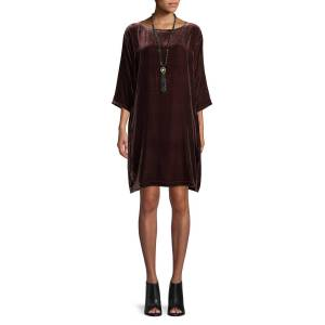 Eileen Fisher Short Velvet Shift Dress