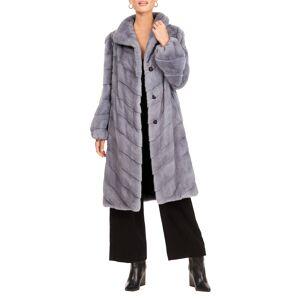 Gorski Chevron Mink Fur Short Coat W/ Bubble Sleeves - Size: Large