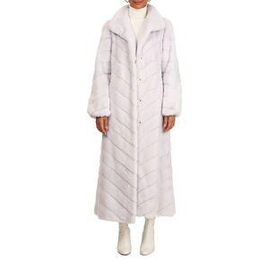 Gorski Chevron Mink Fur Coat W/ Bubble Sleeves - Size: Large
