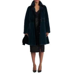 Zac Posen Short Mink Fur Coat w/ Sheared Mink Edges & Belt - Size: Small