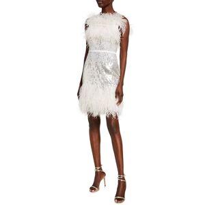 Jenny Packham Hula Sequined Feather-Trim Dress - Size: 14 UK (10 US)